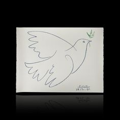 After Pablo Picasso. Dove with Olive Branch #expertissim @Kristie Jennings