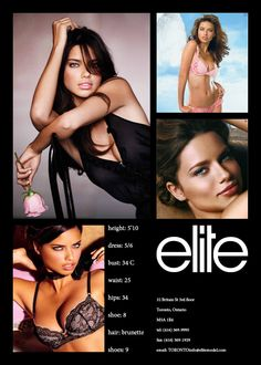 Model Comp Card example 1                                                                                           More
