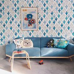 Plains wallpaper   Poppytalk for @mkwallpapers - room decorated by @michelle_baskinteriors  based in Melbourne.