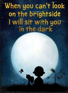 """Saying Snoopy & Charlie Brown """"When you can't look on the bright side"""" Home Decor Print,Great Gift Child Birthday, Office Art,Nursery Print - Funny Positive Quotes, Motivational Quotes, Funny Quotes, Inspirational Quotes, Baby Quotes, Quotes Quotes, Funny Memes, Peanuts Quotes, Snoopy Quotes"""