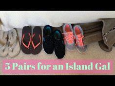 My Minimalist Shoe Collection (Summer / Tropics) - YouTube