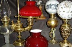 19th century oil lamps