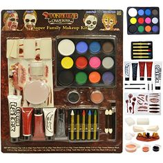 JOYIN Halloween Makeup Ultimate Family Party Pack PCS) Including Liquid Latex Fake Blood Gel Costume Makeup -- Food costumes are so funny! You can entertain anyone with this halloween costume. Halloween Makeup Kits, Food Halloween Costumes, Food Costumes, Halloween Costume Contest, Halloween Gifts, Halloween Make Up, Costume Ideas, Zombie Costumes, Zombie Face Paint