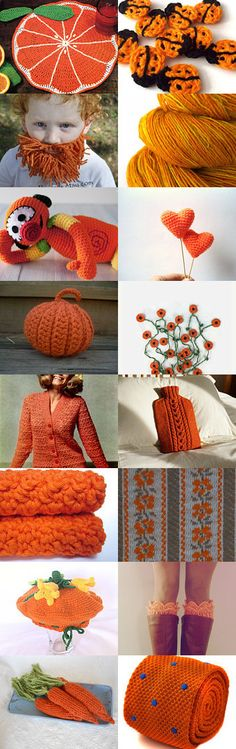 Orange coloured twine by Mireia Gispert on Etsy--Pinned with TreasuryPin.com
