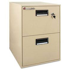 FIRE-SAFE Two-Drawer Water-Resistant Fire File, 18-1/4w x 21d x 27-3/4h, Putty - 2B2100 by Sentry. $733.40. Water-resistant fire file offers superior protection for all your paper documents and digital records. Up to 35% lighter than standard fire files for easier mobility around the office. Drawers operate smoothly on full-extension glides and accommodate letter- and legal-size hanging file folders. Privacy key lock and recessed handles with label holders. Counterwe...
