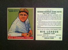 1933 Goudey #181 Babe Ruth Reprint Baseball Card. Stunning & Mint. FREE Shipping
