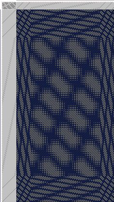 Hand Weaving Draft: Inouye Bonnie, advancing 5, 12778: Tie-up from Old German Book, draft 12778, Bonnie Inouye, 16S, 32T - Handweaving.net Hand Weaving and Draft Archive