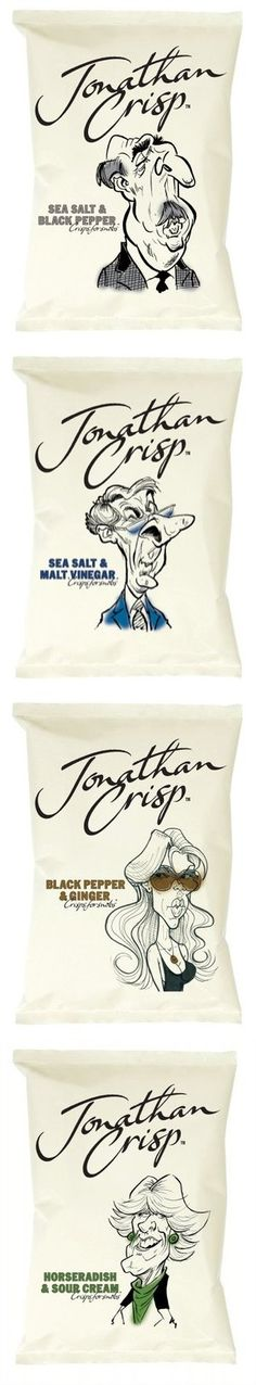 Unique Packaging Design on the Internet, Jonathan's Crisp #packagingdesign #packaging #design