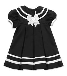 $12 Rare Editions Navy/White Sailor Baby Dress