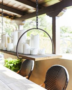 - Chandelier Designs - 5 Backyard Ideas & Hacks That'll Instantly Add Style (& Save You Money) candle chandelier of metal hanging planters as the flat base to set the wood Backyard Ideas & Hacks That'll Instantly Add Style (& Save You Money).