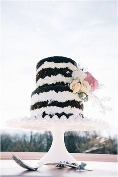 Dark Chocolate Naked Wedding Cake