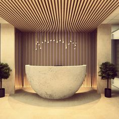 Stunning slatted wood ceiling panels design for - Falso techo madera ...