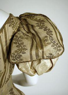 Silk Ball Gown, British, ca. 1828 - sleeve detail