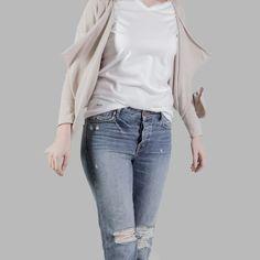 Mutig Edwin Jeans Trademark Tee Herrenmode Grey Marl