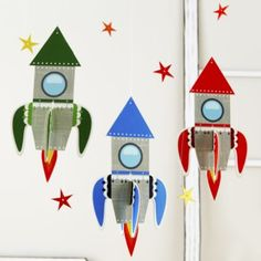 Fly Me Through the Room Hanging Rockets    LandOfNod. $8.95