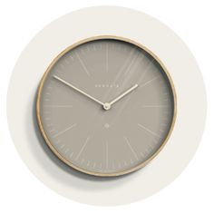 A large modern wall clock with a Scandinavian-inspired pale plywood case and contrasting 'Clay Grey' dial with minimalist graphic numerals. Plywood Walls, Traditional Interior, Scandi Style, Muted Colors, Modern Wall, Minimalist Design, Wall Design, Scandinavian, Glass