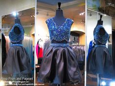Royal/Black Two Piece Homecoming Dress