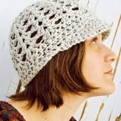 Brimmed Shell Beanie - via @Craftsy