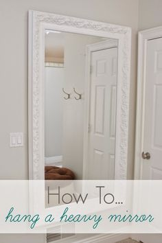how to hang a heavy mirror mounting brackets back to. Black Bedroom Furniture Sets. Home Design Ideas