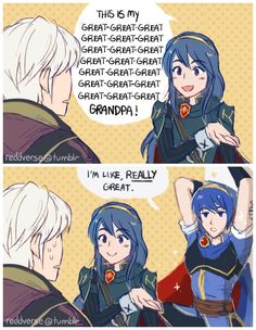 Lucian introduces Robin to her foxy grandpa XD