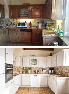 Relooking d'une cuisine en bois : avant / après