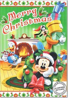 Cartes Disney Noël Mickey  Offrez une vraie et jolie carte, livraison gratuite à retrouver:  #Disney #Mickey #Noël #JoyeuxNoel #Minnie