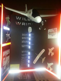 Wright brother school project board led lights and reflector tape School Projects, Projects To Try, Wright Brothers, Project Board, Middle School, Things To Do, Tape, Boards, Classroom