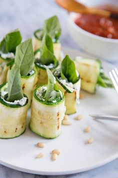 Recipe: Grilled Zucchini Roll-Ups with Ricotta and Herbs — Appetizer Recipes from The Kitchn | The Kitchn