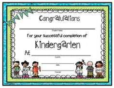 This is a FREE end of year certificate for the Kindergarten classroom!  Come visit my store on Teachers Pay Teachers!