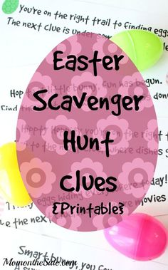 Printable Easter Scavenger Hunt Clues that work for any home! Great idea if you are looking for an easy and fun holiday activity for kids!