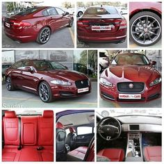A classy and well-crafted interior; sporty handling; comfortable and refined ride Jaguar XF #Jaguar #XF #Premium #Luxury #SuperCharged #2015MY #3.0L #OdysseyRedExterior