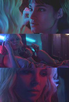 Atomic Blonde Aesthetic, Cinematic Photography, Film Inspiration, Ex Machina, Lesbian Love, Film Aesthetic, Charlize Theron, Film Stills, Girls In Love