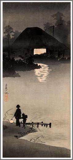 Takahashi Shôtei (1871-1945), L'Etang de Senzoku - 1923