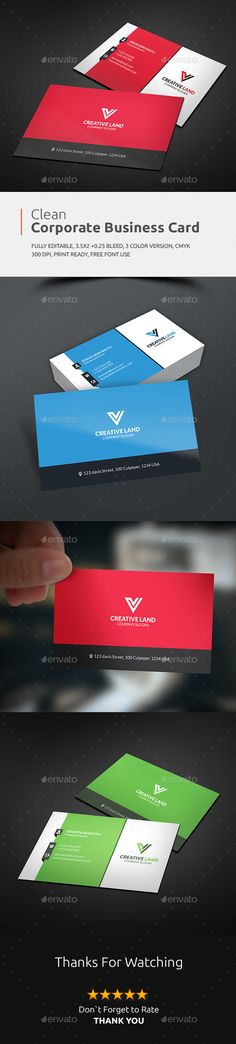 Business Card — Photoshop PSD #print template #red • Available here → https://graphicriver.net/item/business-card/13695966?ref=pxcr
