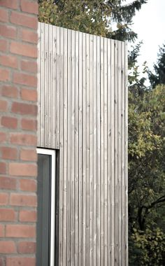 Tvarnø House. Small house with new extension.  Old and new. Brick and pine Kebony Wood.  Made by Sortsø arkitekter + KATOxVICTORIA
