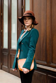 "teal and brown - streetstyle from ""the locals"""
