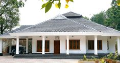 1070 Square Feet 3 Bedroom Beautiful single Floor Home Design and Plan - Home Pictures :: Easy Tips Villa Design, Roof Design, Dream Home Design, My Dream Home, Village House Design, Kerala House Design, Village Houses, Family House Plans, Dream House Plans