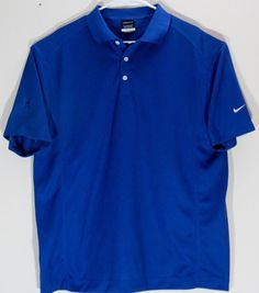 Nike Golf Casual Polo Shirt Mens Performance-Blue Size L Free Shipping #Nike #PoloRugby