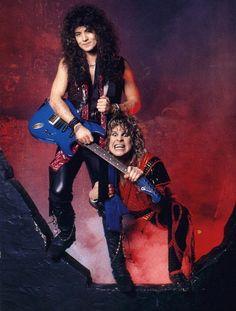 Jake e lee n Ozzy Heavy Metal Bands, Heavy Metal Rock, Heavy Metal Music, Rock And Roll Bands, Rock Bands, Ozzy Osbourne 80s, Jake E Lee, Ozzy Osbourne Black Sabbath, Gus G