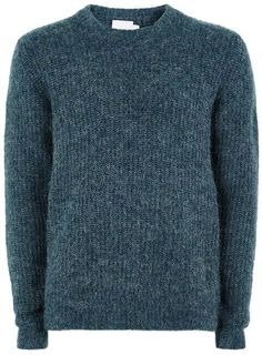 Topman Teal Alpaca Sweater