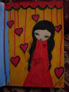 The Heart Decorator  mixed media art print/reproduction by eltsamp, $20.00