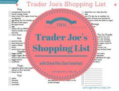 Free Printable THM TJ's shopping list