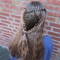 Waterfall lace braid combo by @yiyayellow :)