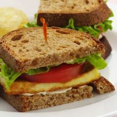 TLT (Tofu, Lettuce, & Tomato) Sandwich.  I will have to try this out.