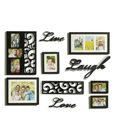 Take a look at this 'Live,' 'Love' & 'Laugh' Frame & Wall Art Set by Elements by Lifetime Brands on #zulily today!