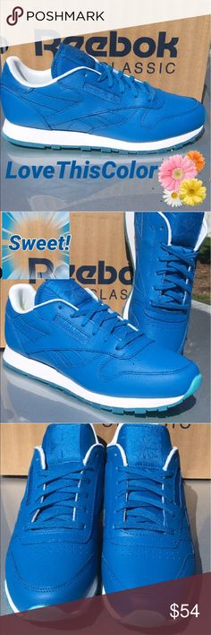 New Blue Reebok Sneakers     Electric Fashion blue color in new Reebok for girls and women  Classic comfort too. Reebok Shoes Sneakers
