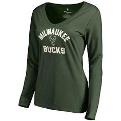 Milwaukee Bucks Women's Overtime Slim Fit Long Sleeve T-Shirt - Green - $27.99