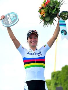 La Course by Le Tour de France > The podium of the edition: Marianne Vos Marianne Vos, Women's Cycling, Courses, Victorious, Athlete, Champion, Abs, Female, Sports