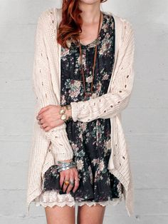 Shark Hem Cardigan. I love this site! Looks like Free People but the prices are better! Gypsan.com