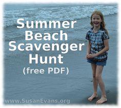 Summer Beach Scavenger Hunt (kostenloses PDF) - Summer Activities for Kids - Sommer I Love The Beach, Beach Fun, Beach Trip, Summer Beach, Summer Fun, Summer Activities For Kids, Outdoor Activities, Nature Activities, Scavenger Hunt Riddles